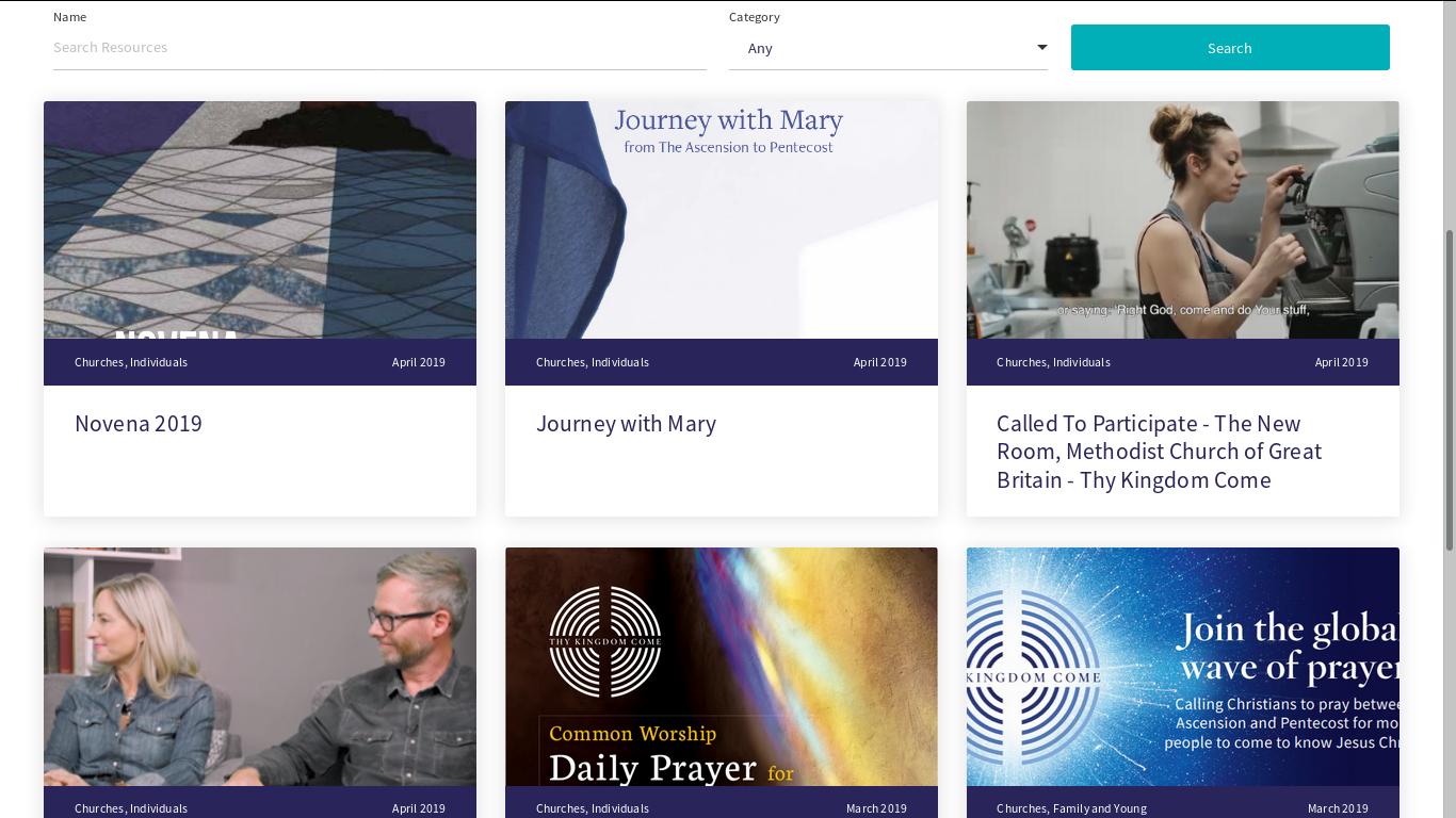 Prayer Resources | Thy Kingdom Come