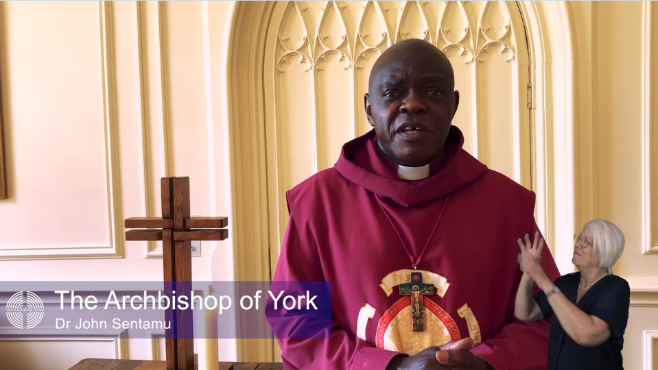 Blessing by the Archbishop of York