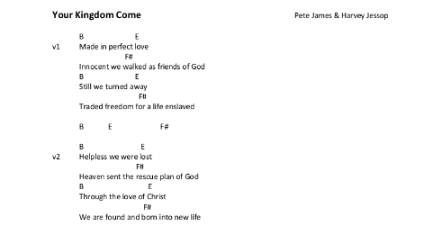 Your Kingdom Come Chord Sheet